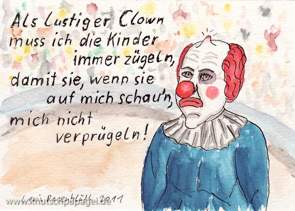 Als lustiger Clown ...